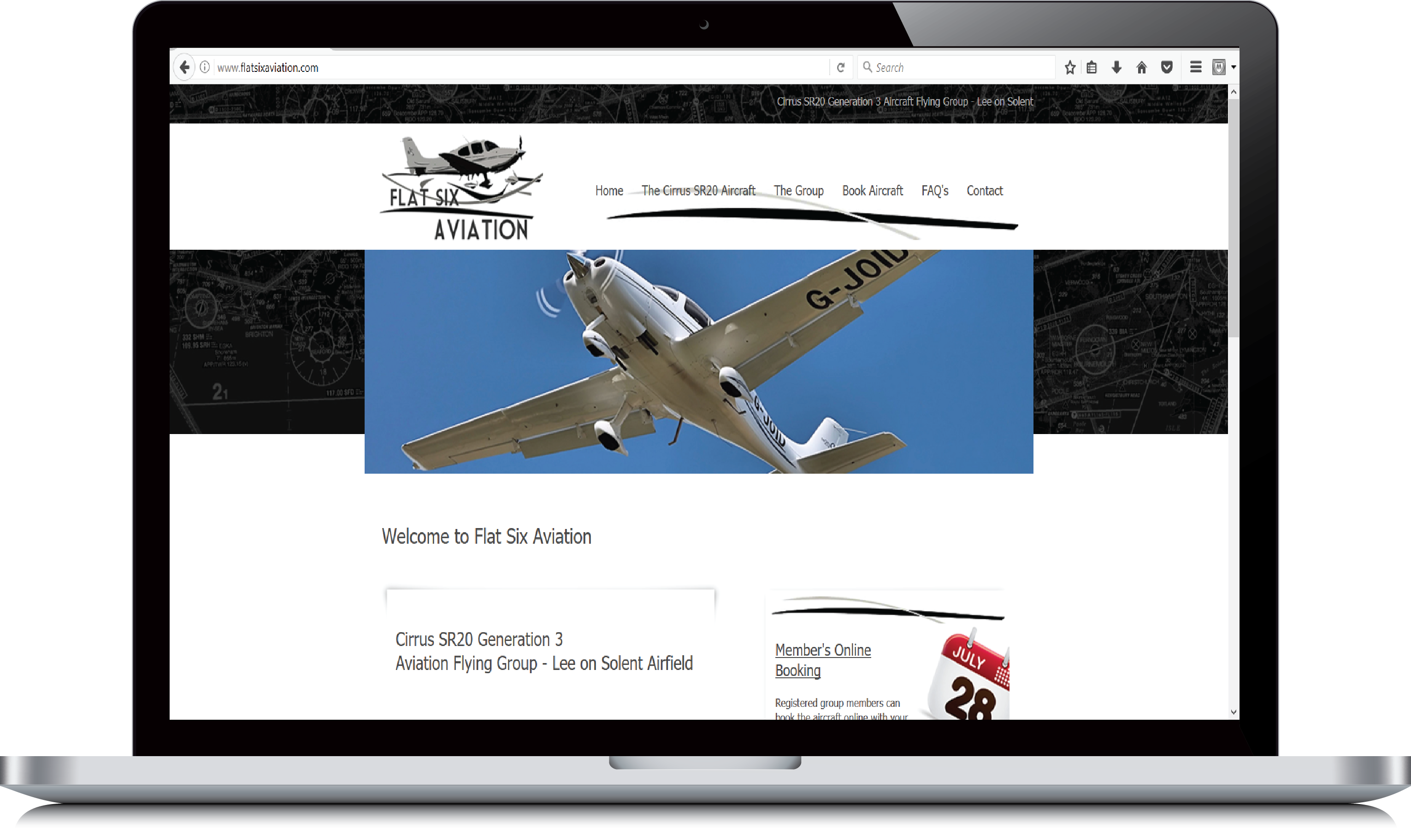 Flat Six Aviation website example view