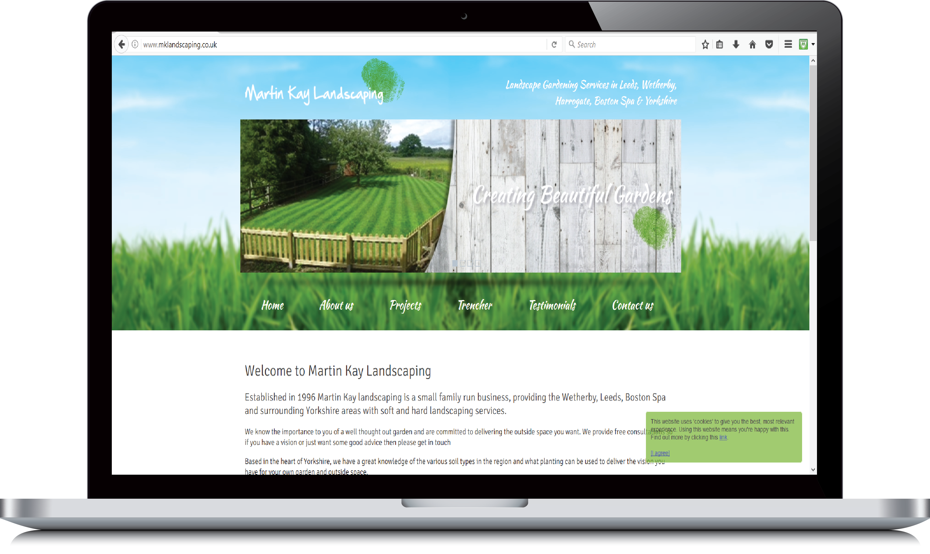 Martin Kay Landscaping website example view